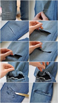 DIY: Rip Your Own Jeans!  Versatile Teens
